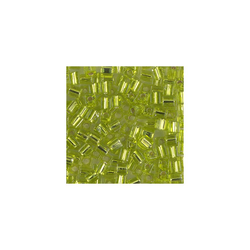 Miyuki Square Beads 4mm 0014 Chartreuse Silver Lined - 10g