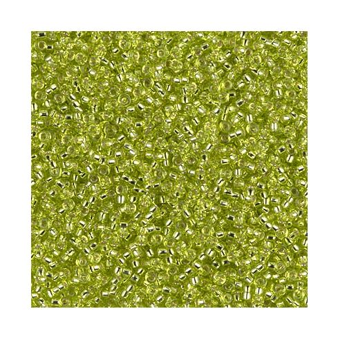 Miyuki Rocailles 15/0 0014 Chartreuse Silver Lined
