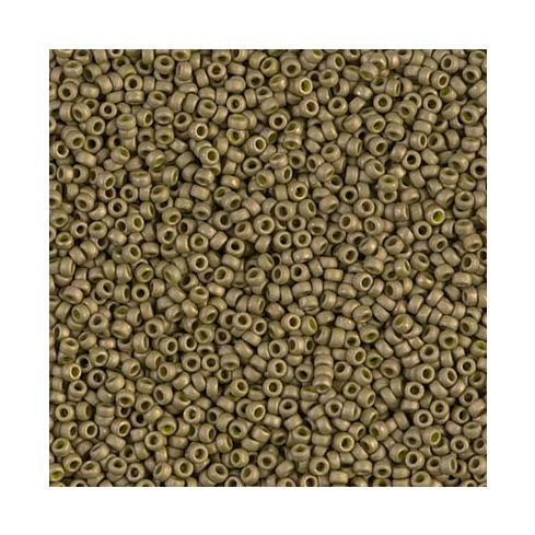 Miyuki Rocailles 15/0 2032 Matted Opaque Golden Olive