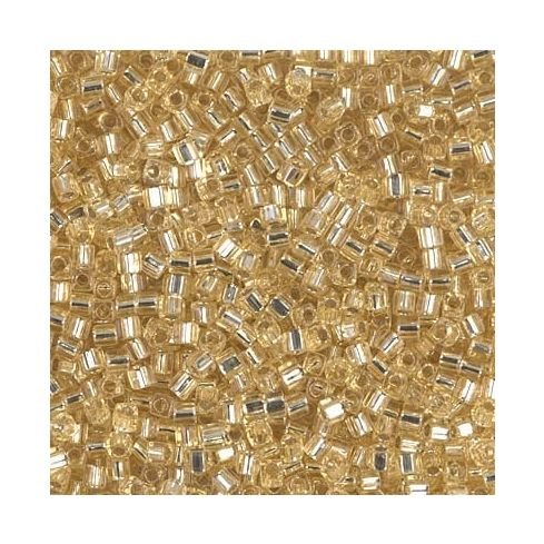 Miyuki Square Beads 1.8mm 0003 Silver Lined Gold
