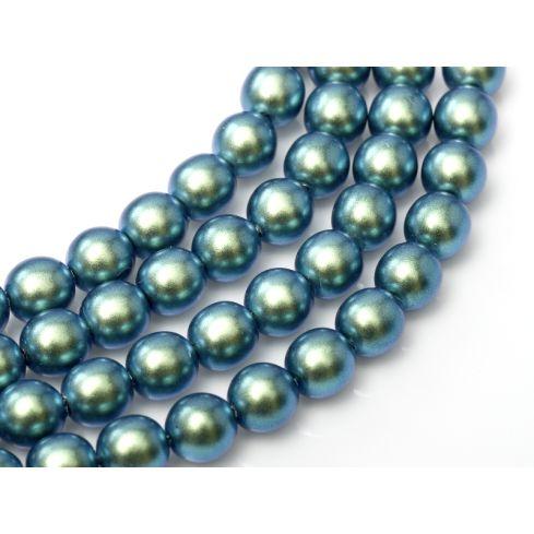 Czech Glass Pearl 8mm 19041 Moonstone Blue