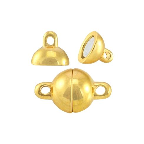 Magnetic Clasps Ball Gold 8mm