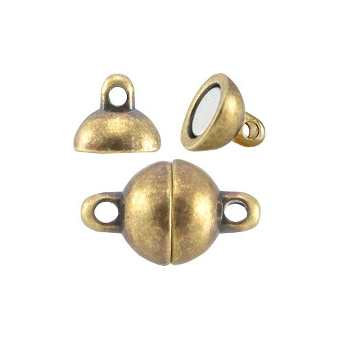 Magnetic Clasps Ball Antique Bronze 8mm