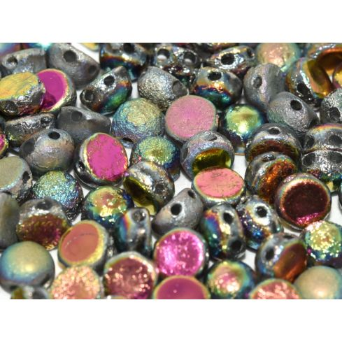 2-Hole Cabochon 6mm 00030-28180 Crystal Etched Full Vitrail