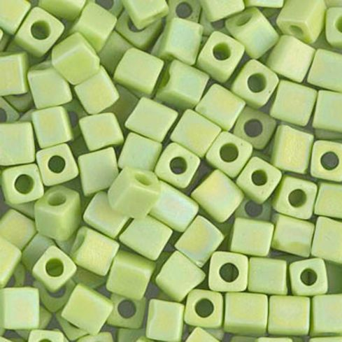 Miyuki Square Beads 3mm 0416FR Matted Opaque Chartreuse AB