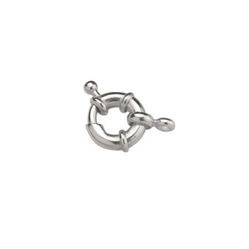 High Quality Silver-Coloured Brass Bolt Ring 12mm