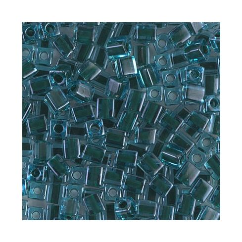 Miyuki Square Beads 4mm Color Lined Blue/Black Green