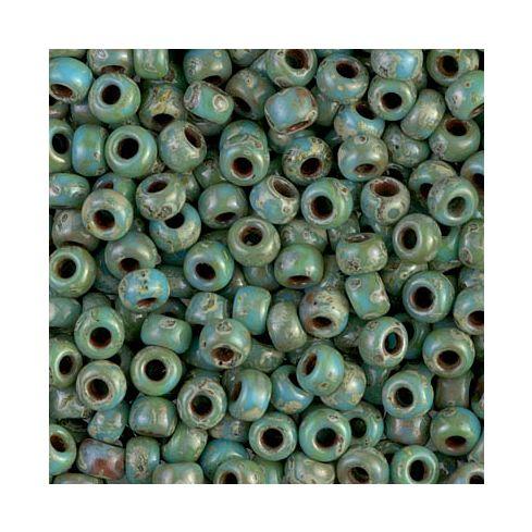 Miyuki Rocailles 6/0 4514 Picasso Opaque Seafoam Green