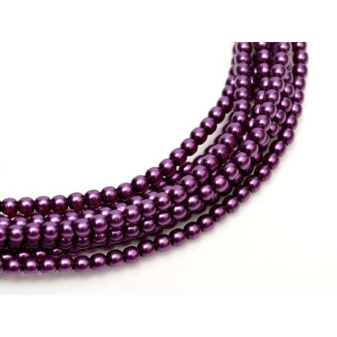 Czech Glass Pearl 8mm 70478 Purple