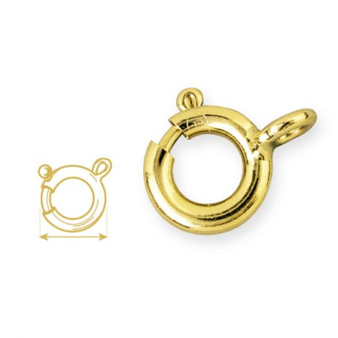 High Quality Gold Plated Bolt Ring 7mm