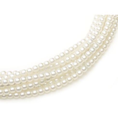 Czech Glass Pearl 4mm 75400 White Satin