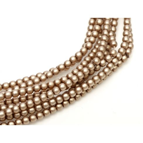 Czech Glass Pearl 4mm 75417 Taupe Satin