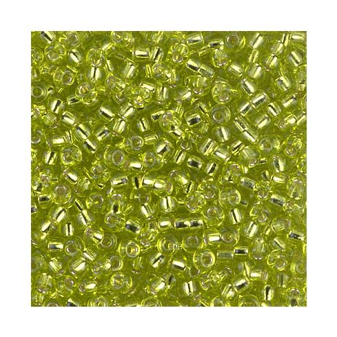 Miyuki Rocailles 8/0 0014 Chartreuse Silver Lined