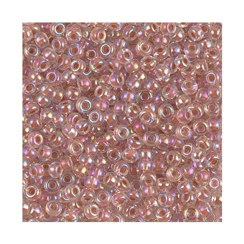 Miyuki Rocailles 8/0 0275 Dark Peach Lined Crystal AB