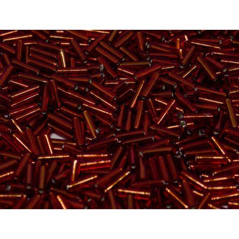 Miyuki Bugle 0011 Silver Lined Ruby
