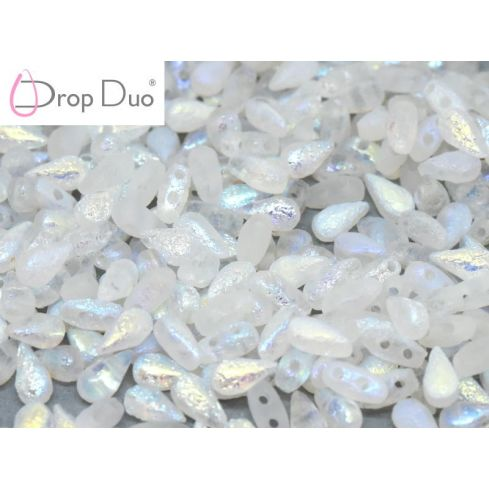 DropDuo® 3x6mm - Crystal Etched AB Full - 00030-28783