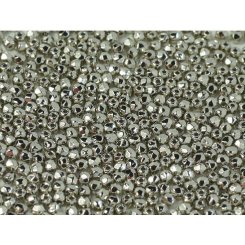 Fire polished 2mm Crystal Nickel Plated - 100pcs