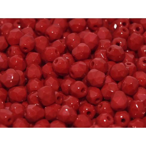 Fire polished 4mm - 93220 -  Opaque Dark Red