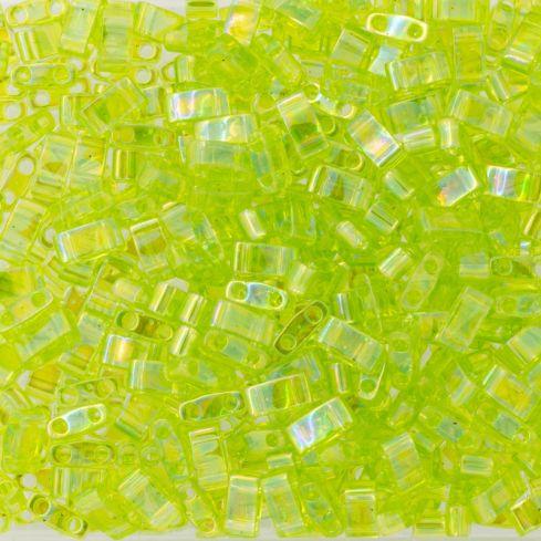 Miyuki Half TILA 0258 Transparent Chartreuse AB