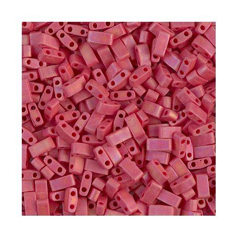 Miyuki Half TILA 0408FR Opaque Dark Red Matted AB
