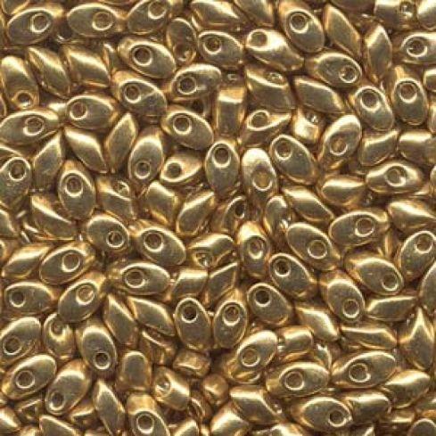 Miyuki Long Magatama LMA4202 Duracoat® Galvanized Gold