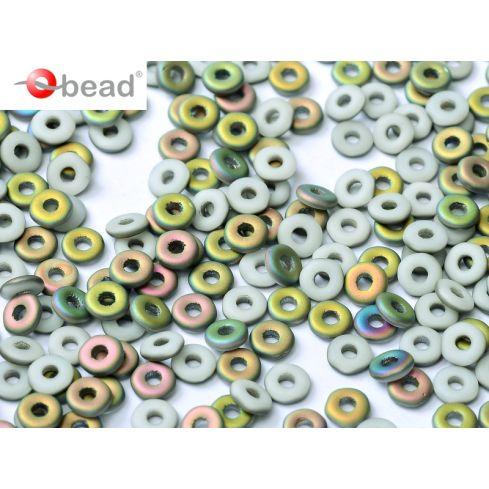 O bead ® 2x4mm - Chalk White Vitrail Matted - 03000-28171