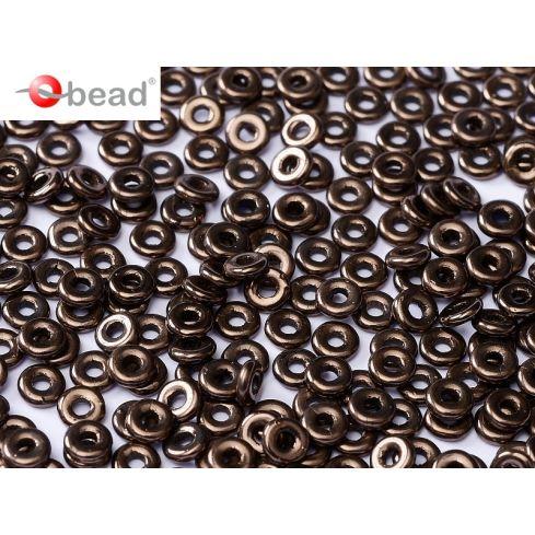 O bead ® 2x4mm - Jet Bronze - 23980-14415