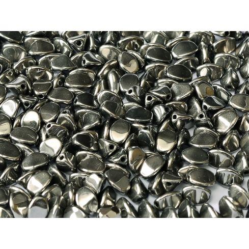 Pinch Beads 5x3mm - Jet Full Chrome - 23980-27400